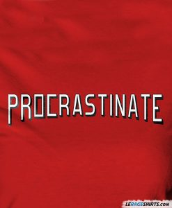 procrastinate-netflix-logo-tee-shirt