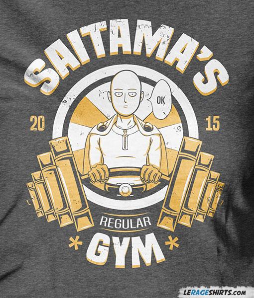 Saitama S Regular Gym T Shirt Funny One Punch Man By