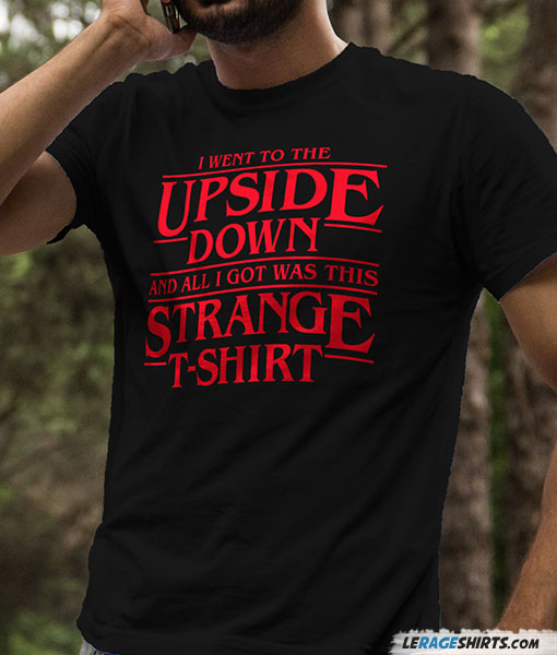 upside down stranger things t shirt by lerage shirts. Black Bedroom Furniture Sets. Home Design Ideas