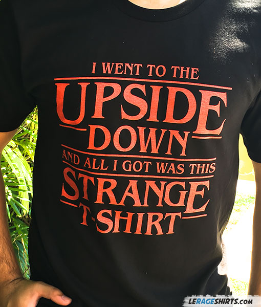 Stranger Things Upside down Theme shirt black color