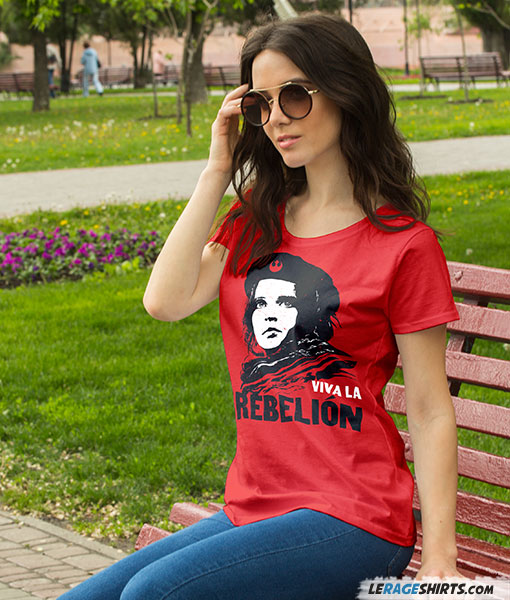 viva la rebelion funny star wars t shirt