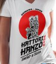 Women Hattori hanzo sword tee design from lerage
