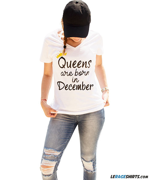 b9683be0a Queens Are Born in [Month] Shirts. Birthday Gift for Her. By LeRage ...