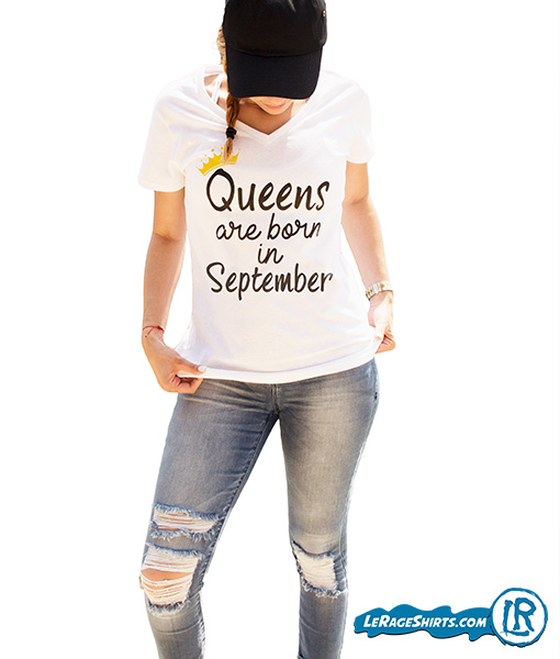 Birthday Gift Girls T shirt Queens Are Born in September