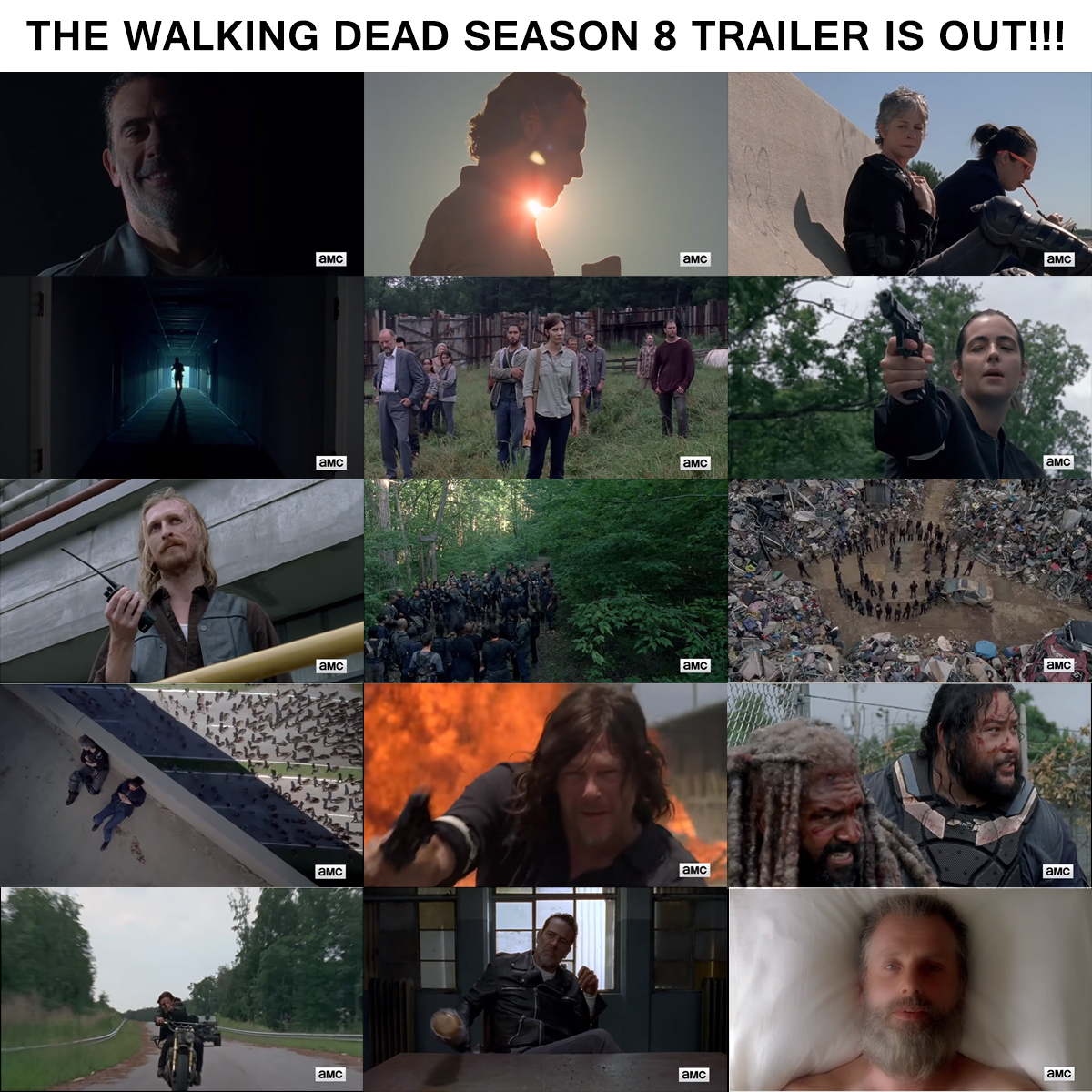 the walking dead season 8 trailer comic con 2017 is out lerage shirts. Black Bedroom Furniture Sets. Home Design Ideas
