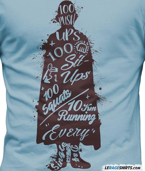 One Punch Man Workout T-Shirt by LeRage Shirts