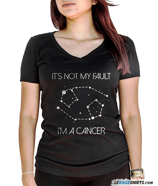 It's Not My Fault I'm A Cancer Black Star Sign Zodiac Shirt by LeRage