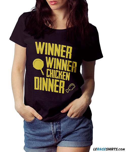 fee214957 Winner Winner Chicken Dinner PUBG T-Shirt by LeRage Shirts