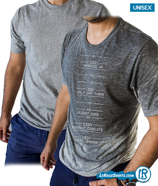Sweat Activated T-shirt with sweat meter for the gym workout from LeRage