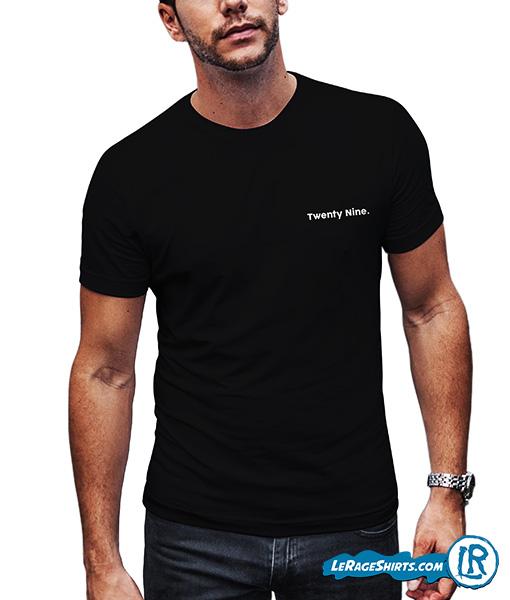 Fashion Forward Clean Cut Minimalist 29th Birthday Shirt By LeRage