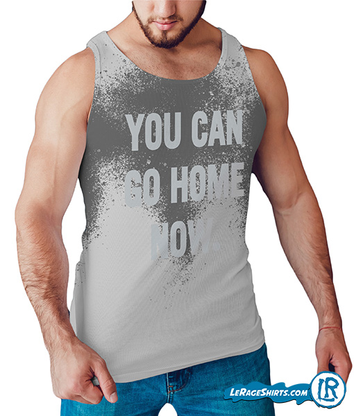 Sweat Activated Tank Top grey for guys that is muscular