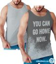 Sweat Actiavted muscle tank You can go home now tank top style