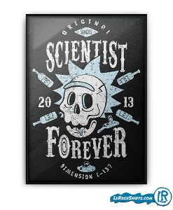 pickle-rick-and-morty-scientist-forever-poster-print-gift-lerage-shirts