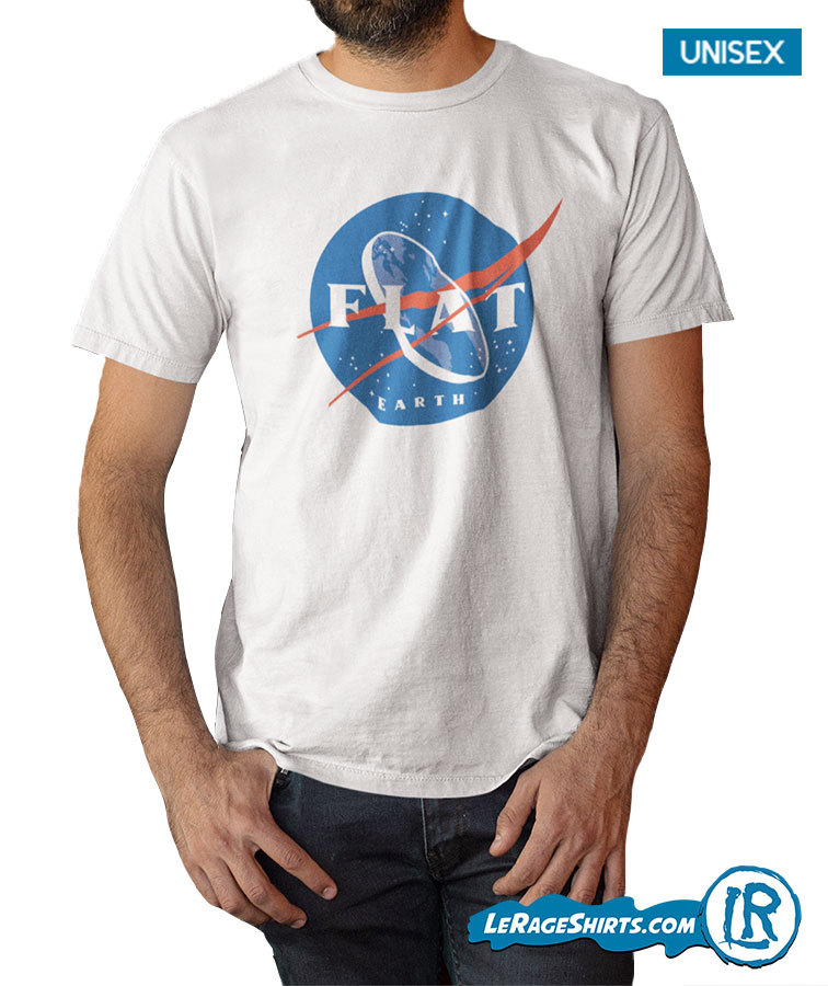 b3d12db5 Funny Flat Earth NASA Space shirt by LeRage