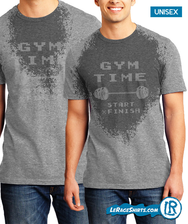 Sweat Activated Shirt With Motivational Message Gym Time Workout Clothes