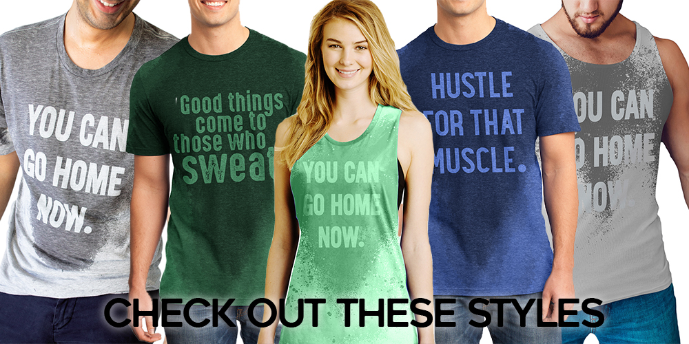 Sweat Activated Products including Tanks Shirts hidden Messages from Lerage