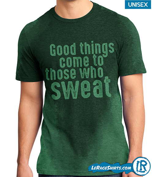 Sweat activated T Shirt green color from LeRage Shirts