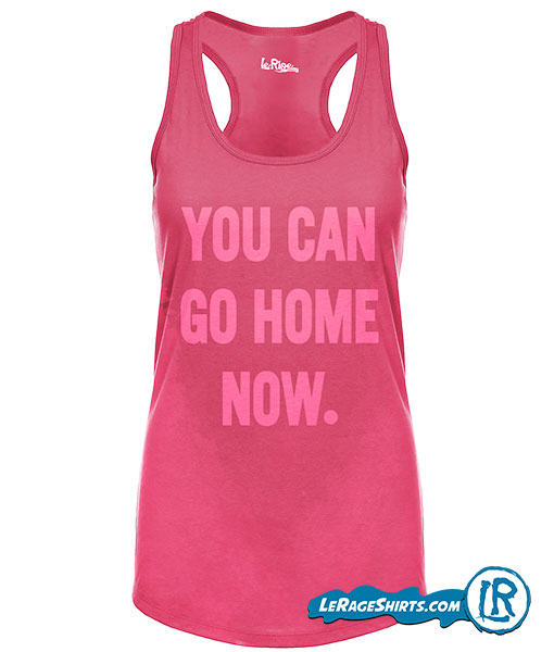 Sweat Activated Technology Tank with Hidden Motivational message Pink Color From Lerage Shirts Wet With the message showing