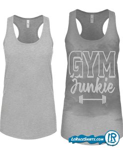 sweat-Activated-Tank-With-hidden-Motivational-Messages-Grey-color-gym-junkie-mock up