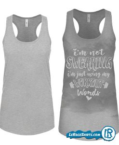 sweat-Activated-Tank-With-hidden-Motivational-Messages-Grey-color-im-not-swearing tank top mock up